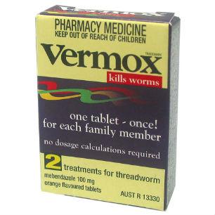 Vermox Tablets 100mg